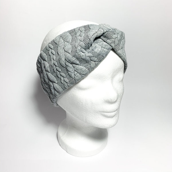 Stirnband - Grey knit